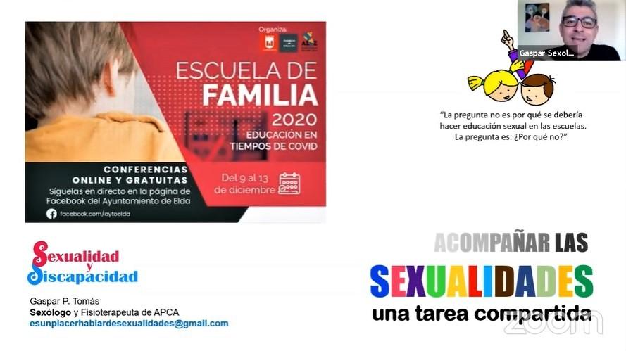 Las charlas de la Escuela de Familia han llegado a más de 17.000 personas en la página de Facebook del Ayuntamiento de Elda