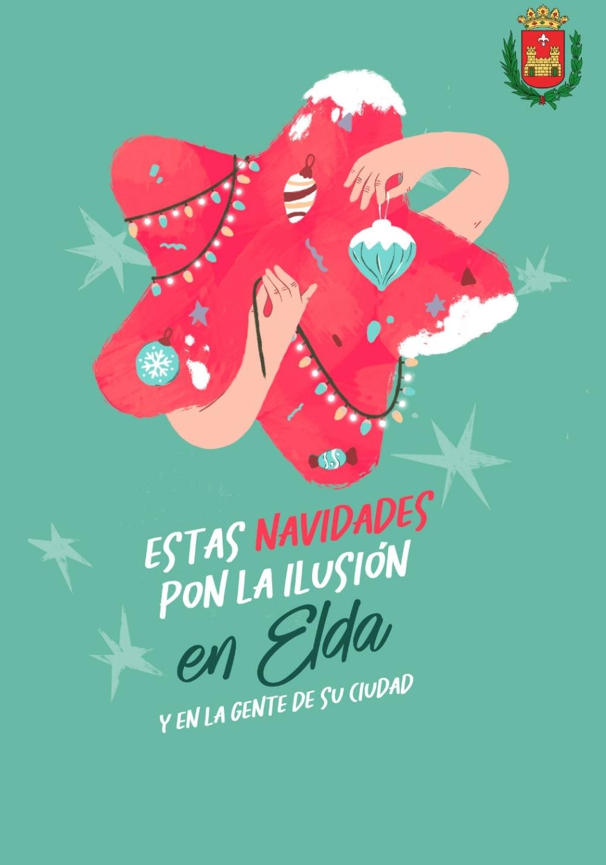 El Ayuntamiento de Elda enciende mañana viernes el alumbrado navideño para incentivar las compras en el comercio local