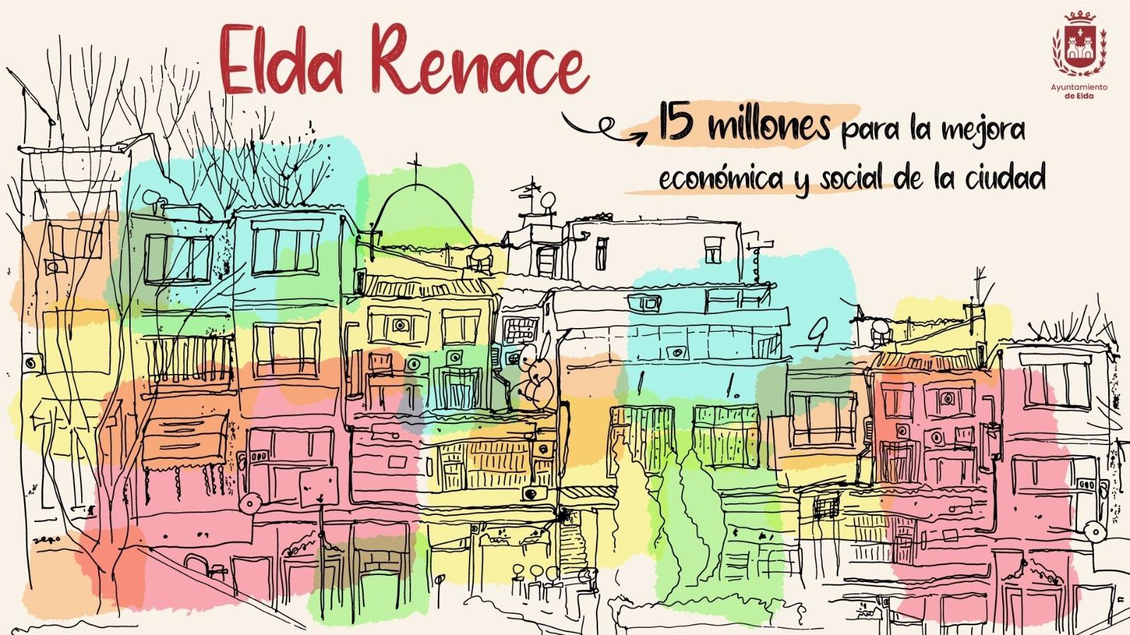 El Ayuntamiento pone en marcha 'Elda Renace', un plan con más de 15 millones de euros para impulsar la recuperación económica y social de la ciudad  y generar más de 600 empleos
