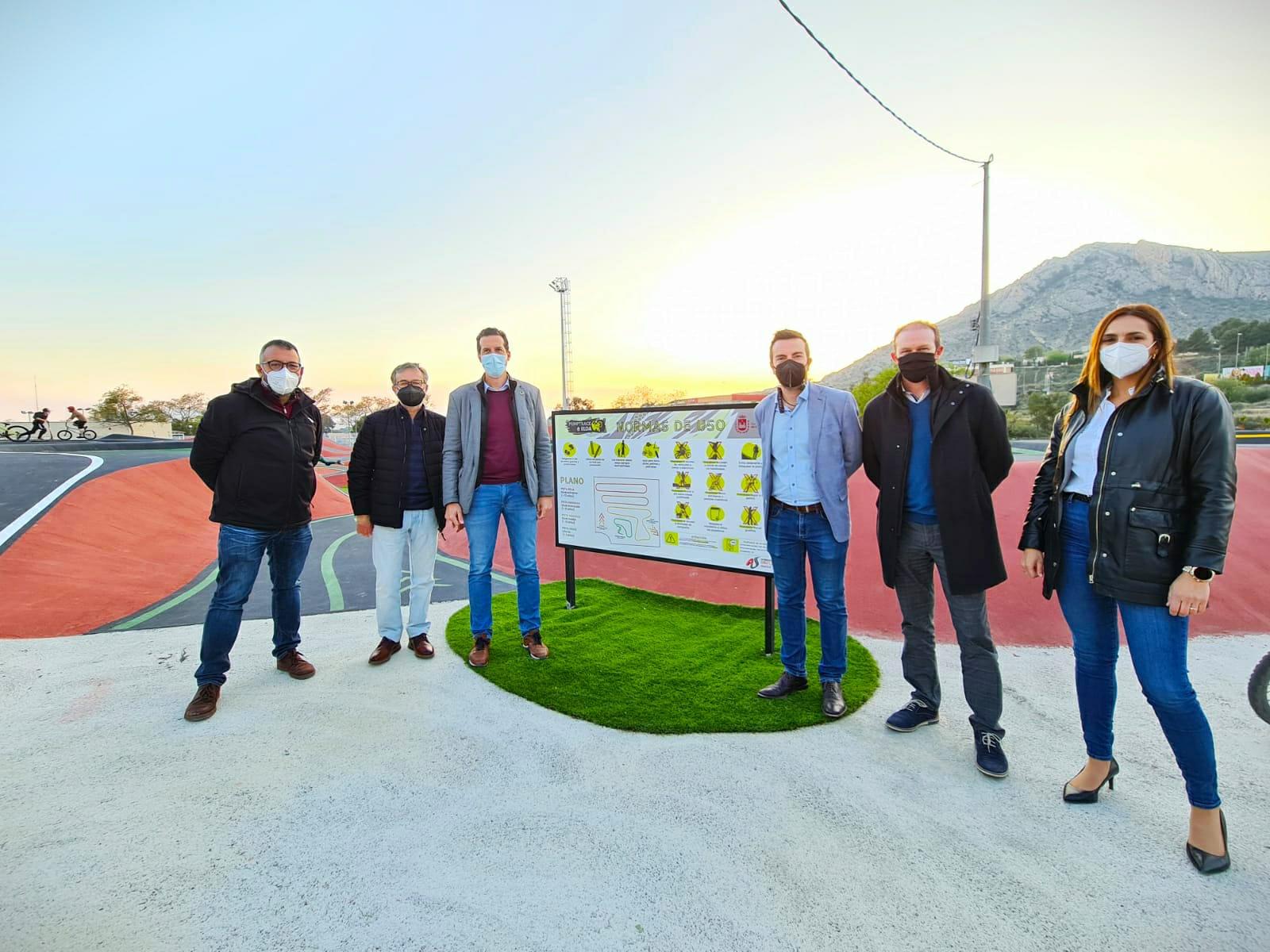 La apertura del Pump Track junto al parque del Río Vinalopó completa una de las zonas de ocio deportivo más importantes de la Comunidad