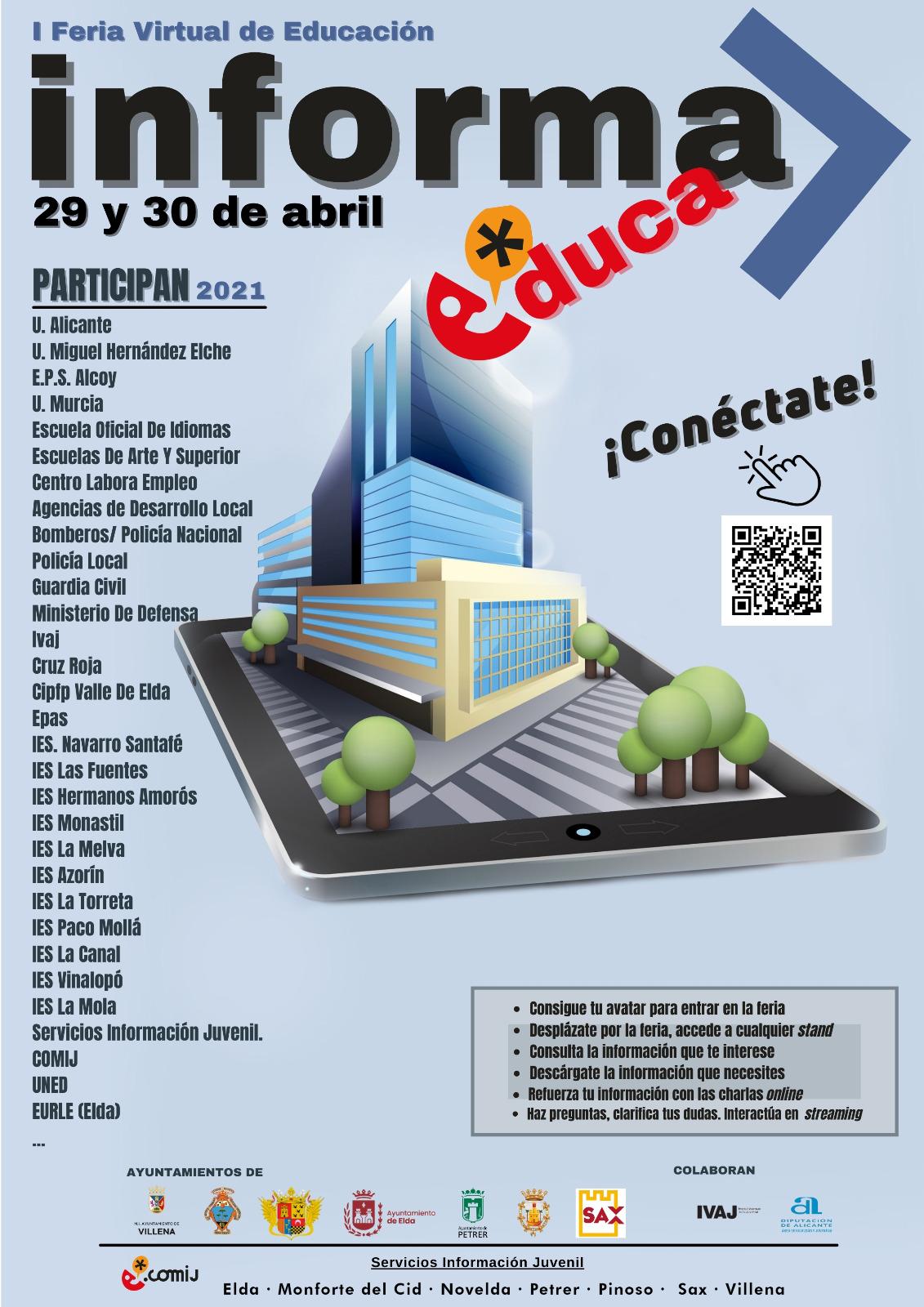 Cartel Feria Virtual Informa-educa