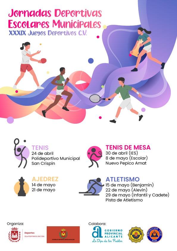 Los Juegos Deportivos Escolares se ponen en marcha la próxima semana con las competiciones en disciplinas individuales