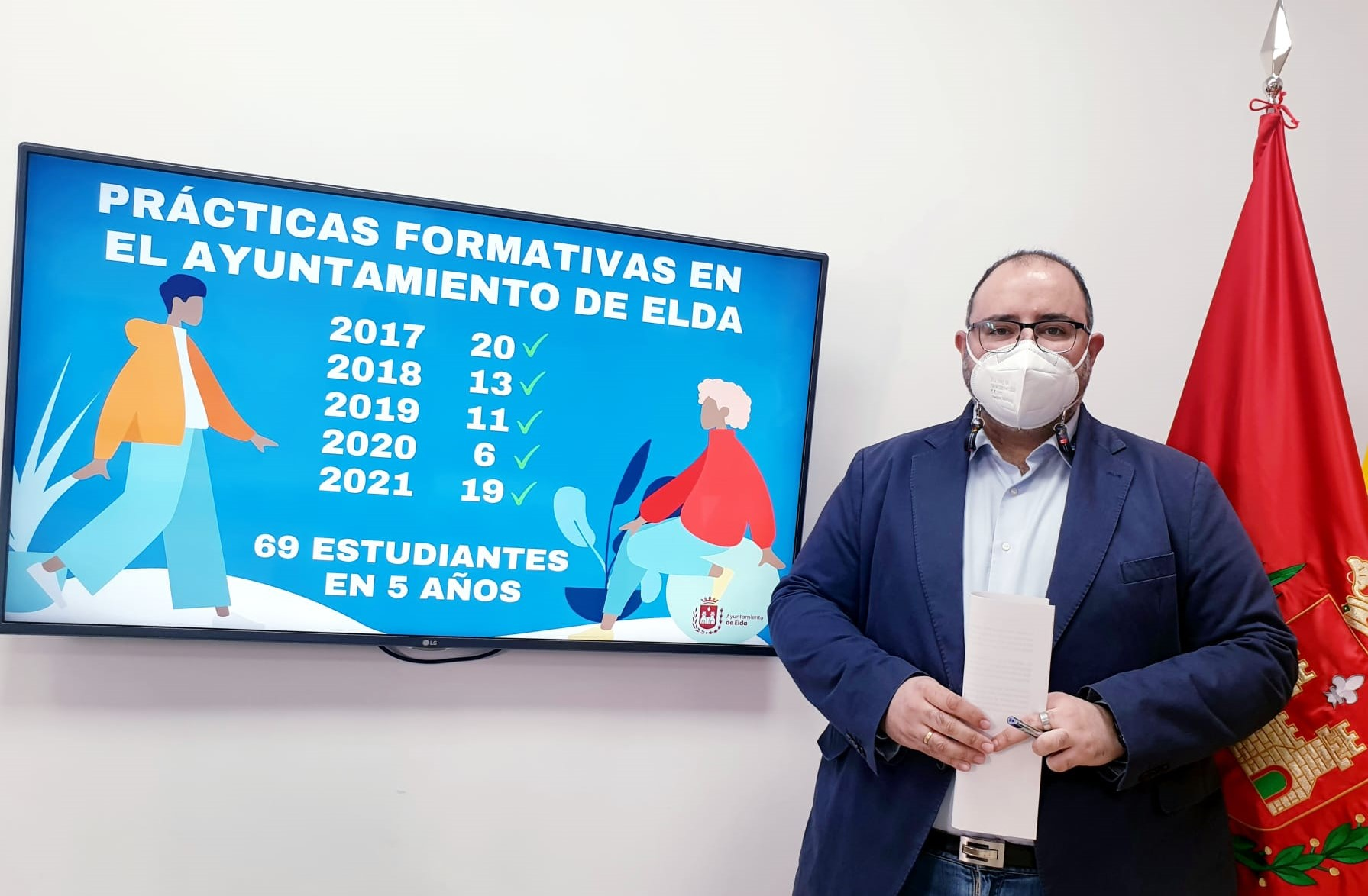 Cerca de 70 alumnos y alumnas de FP, estudios universitarios y academias han realizado prácticas formativas y curriculares en el Ayuntamiento de Elda en los últimos cinco años