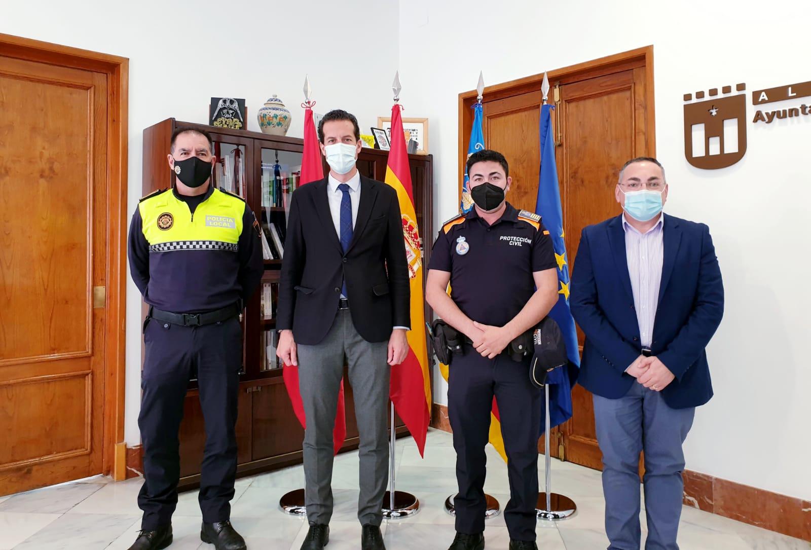Sergio Requena, nuevo jefe de la Agrupación de Voluntarios de Protección Civil de Elda