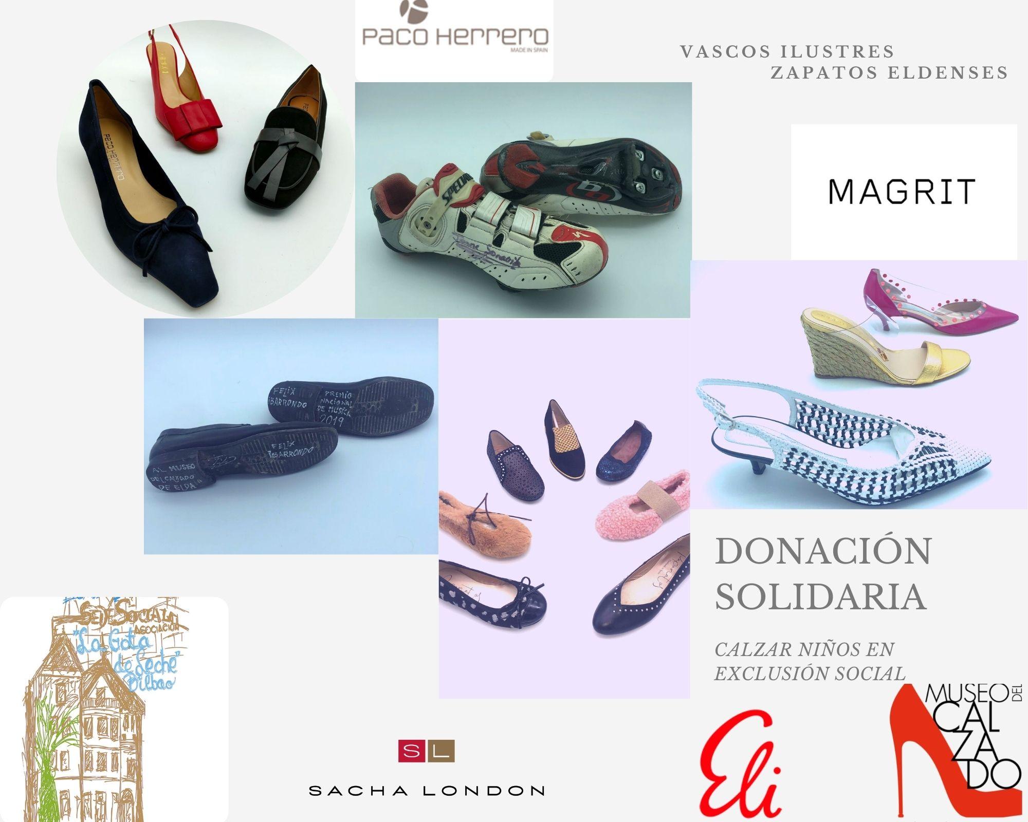 El Museo del Calzado de Elda recibe una nueva donación de zapatos de la asociación benéfica La Gota de Leche de Bilbao