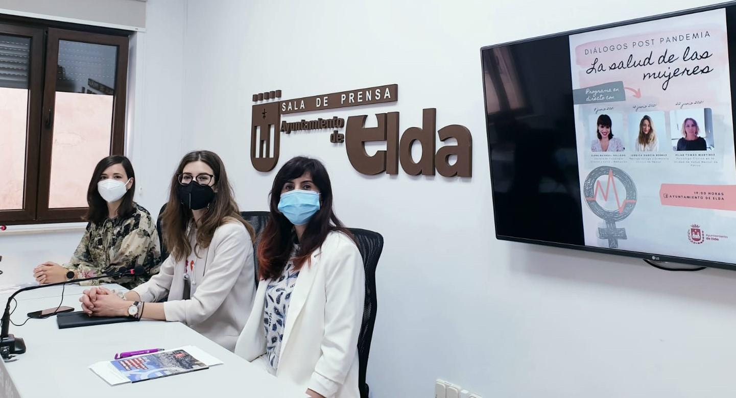 El Ayuntamiento de Elda organiza un programa online sobre los problemas de salud de las mujeres en el contexto de la pandemia