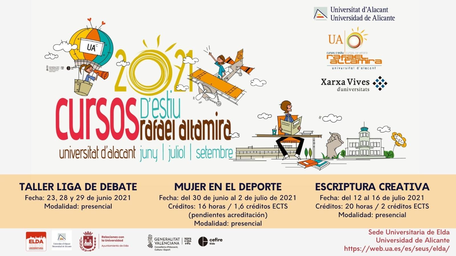La Sede Universitaria de Elda impartirá tres cursos de verano de la Universidad de Alicante
