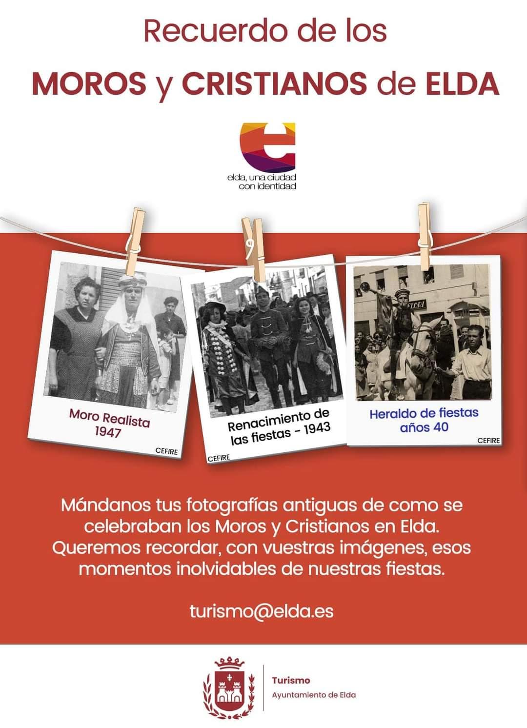El Ayuntamiento de Elda pone en marcha una campaña para recordar las fiestas de Moros y Cristianos a través de fotografías antiguas