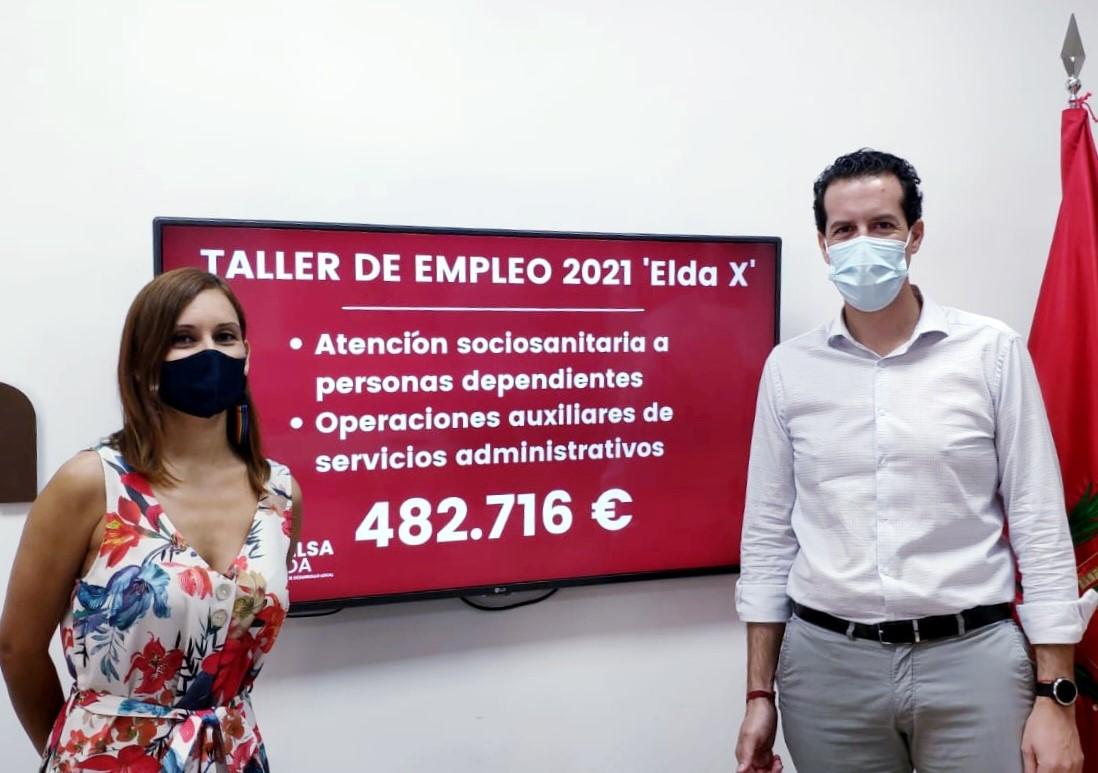 El Ayuntamiento de Elda pone en marcha un Taller de Empleo que ofrecerá 23 contratos de Atención Sociosanitaria y de Auxiliar de Administración