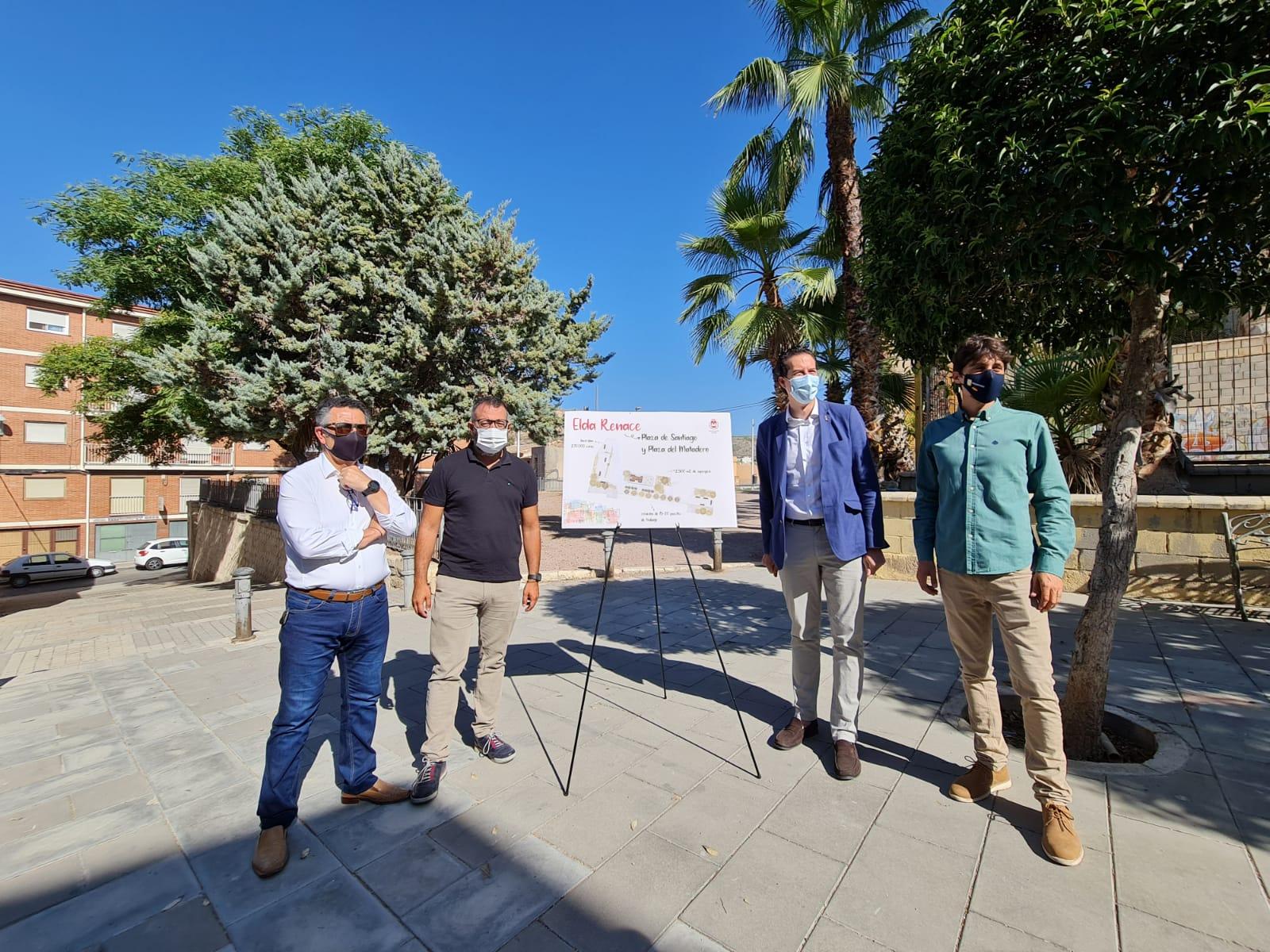 El Ayuntamiento de Elda remodelará las plazas de Santiago y del Matadero a través del 'Plan Elda Renace' para revitalizar el casco antiguo