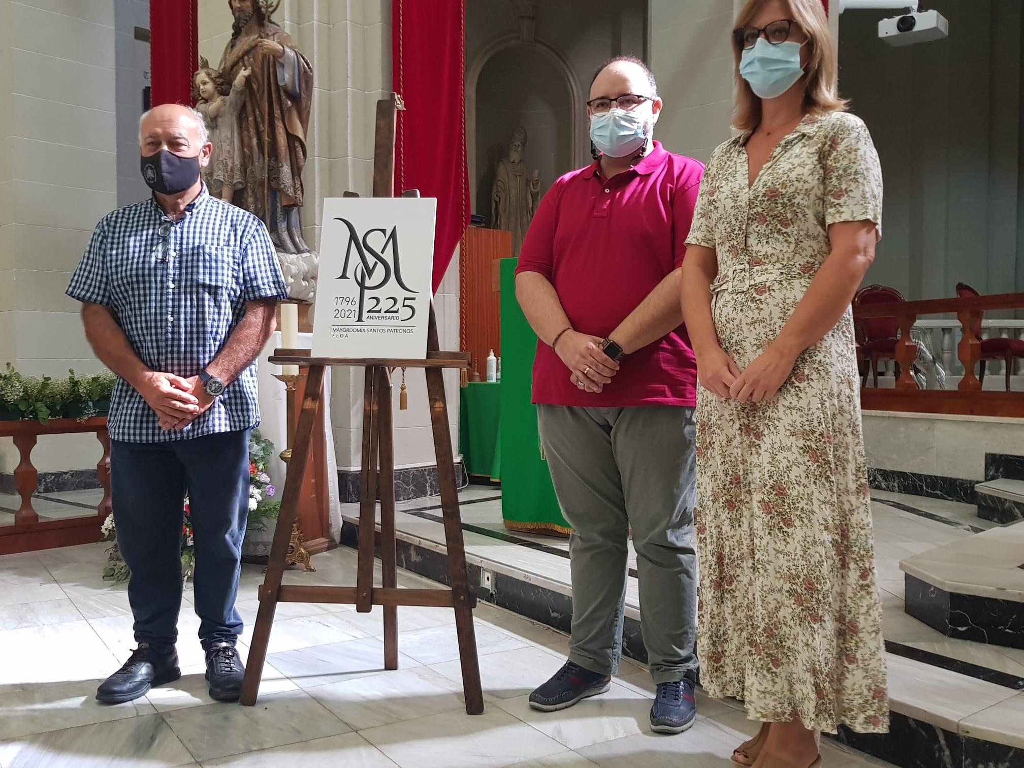 La Mayordomía de los Santos Patronos presenta el logotipo diseñado con motivo del 225 aniversario de su fundación