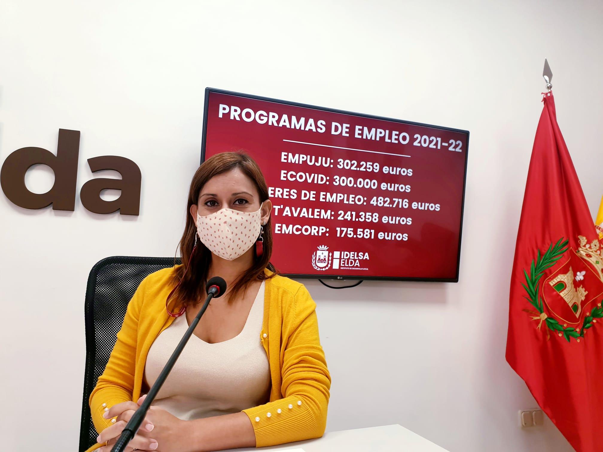La concesión de los programas Ecovid y Empuju eleva a 1,5 millones de euros los fondos de la Generalitat captados en 2021 por el Ayuntamiento para crear empleo en Elda