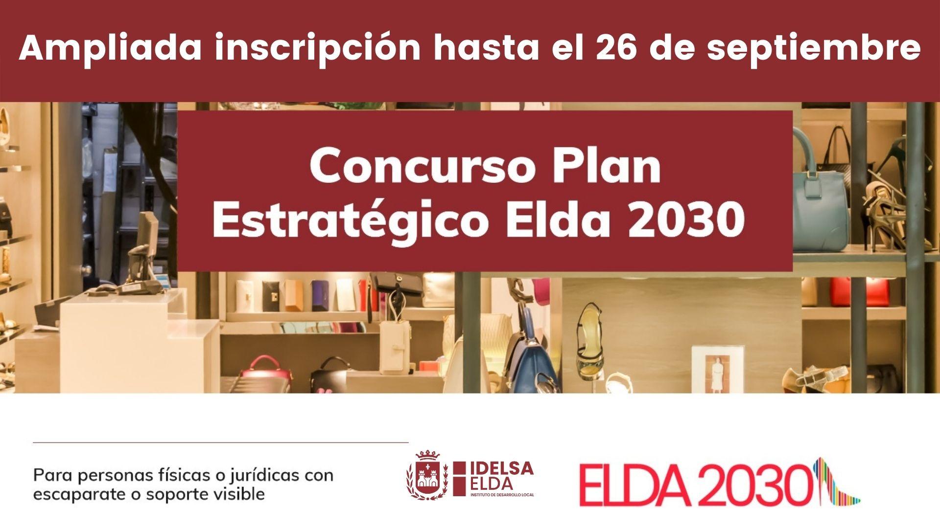 Idelsa amplía hasta el 26 de septiembre el plazo de inscripción para los comercios eldenses que deseen participar en el Concurso #Elda2030