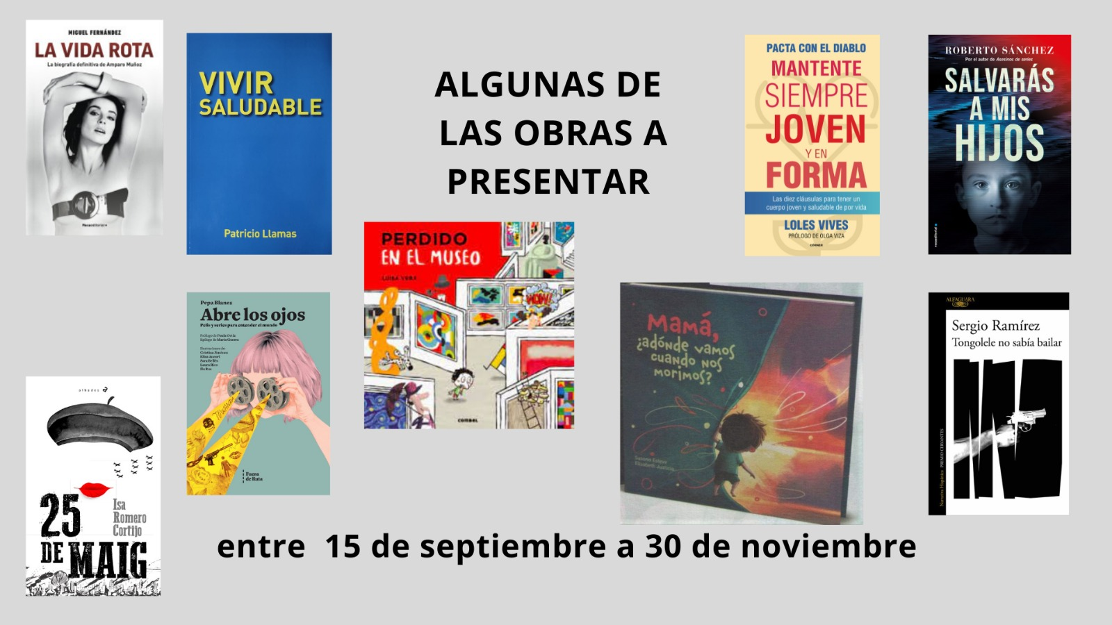 El Ciclo de Presentaciones Literarias Otoño 2021 continúa con un octubre dedicado a las mujeres